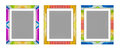 3d rendered, colorful picture frame, isolated on white background Royalty Free Stock Photo