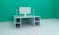 3d rendered computer room