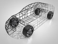 3D rendering: abstract car and carbody