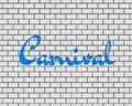 3D RENDERING OF Carnival WORDS Royalty Free Stock Photo