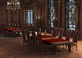 3D Rendering Castle Interior