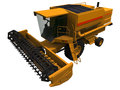 D rendering of a combine an ordinary harvesting Royalty Free Stock Image