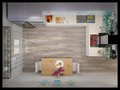 3d rendering design interior of modern kitchen Royalty Free Stock Photo