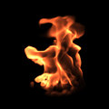 D rendering fire texture turbulent flame Royalty Free Stock Images