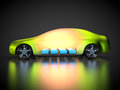 3D rendering: green car technology