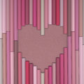 D rendering of heart shaped pencils on packing paper background Stock Images