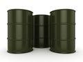 3D rendering khaki barrels