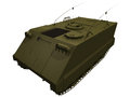 D rendering of a m apc armored personnel carrier Royalty Free Stock Photography