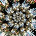 3D rendering magic spiral artwork