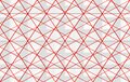 3d rendering. modern luxurious white triangle grid with red edge line pattern design wall background Royalty Free Stock Photo