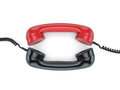 3D rendering old phone handsets Royalty Free Stock Photo