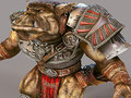 D rendering orc on a grey background Royalty Free Stock Photography