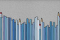 D rendering of pencils on packing paper background Stock Image