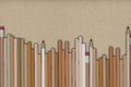 D rendering of pencils on packing paper background Royalty Free Stock Photo