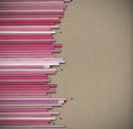 D rendering of pencils on packing paper background Royalty Free Stock Image