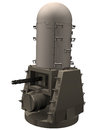 D rendering of a phalanx ciws close in weapon system for defending against anti ship missiles Stock Photos