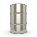 3D rendering Shiny chrome barrel