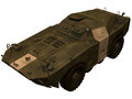 D rendering of a soviet brdm armored reconnaissance patrol vehiclebrdm Royalty Free Stock Photos