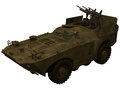 D rendering of a soviet brdm with rockets armored reconnaissance patrol vehicle Royalty Free Stock Image