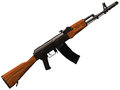 D rendering of a soviet russian ak automatic rifle Stock Photography