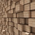 3d rendering of wood cubic random level background. Royalty Free Stock Photo