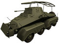 D rendering of a world war era german sdkfz leichter panzerspähwagen Stock Photo