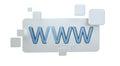 3D rendering www web icon bar