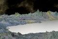 D rindió el planeta del extranjero de la fantasía house lago en tierra Imagen de archivo libre de regalías