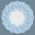 3D round frame for a photo or picture, vignette with ornaments, lace border, bas-relief ornament, openwork pattern, template