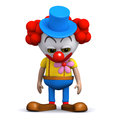 D sad clown render of a looking dejected Stock Image