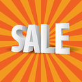 D sale text on a retro background Royalty Free Stock Photo