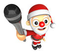 D santa character point a microphone d christmas character de design series Royalty Free Stock Photos