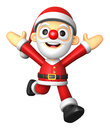 D santa character on powerfull running d christmas character design series Royalty Free Stock Images
