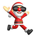 D santa character on running to be strong d christmas charact design series Stock Image