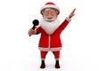 3d santa claus sing concept