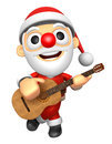 D santa has to be playing the guitar d christmas character de design series Stock Images