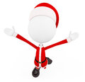 D santa with jumping pose white Royalty Free Stock Images