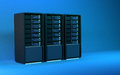 3d servers render blue Royalty Free Stock Photo