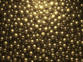 D shining golden pearls background Royalty Free Stock Photo