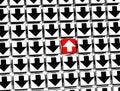3D Sign Arrow inside arrow blocks