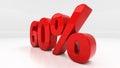D sixty percent off discount percentage illustration Stock Photo