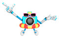 D sky blue camera character dip tube ride create d camera rob robot series Stock Photography