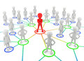 3d small people - partners the network. Royalty Free Stock Photo