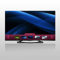 D smart tv led with flat screen and image preview Royalty Free Stock Images