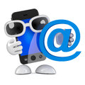 D smartphone email render of a with an address symbol Stock Photography