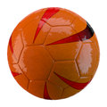 D soccer ball on white background made Royalty Free Stock Photography