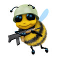 D soldier bee render of a dressed as a Royalty Free Stock Photography