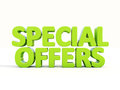 D special offers icon on a white background illustration Stock Photo