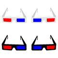 The 3d spectacles or eyeglasses.