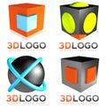 3D sphere cube logo